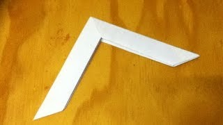How to Make a Paper Boomerang - an Origami Boomerang - Step by Step Instructions - Tutorial
