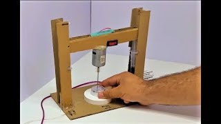How to Make a Drill Press Machine | Mini Drill with Cardboard