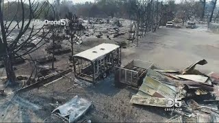 Skydrone 5 Reveals How Widespread Fire Devastation Is In One Santa Rosa Neighborhood