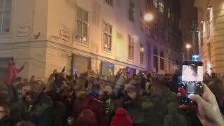 Glasgow Rangers FC fans in Vienna 12/12/18