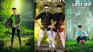 Love The Nature photo editing using mobile, Manipulation Editing in Mobile phone, green background