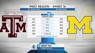 Turner Sports' Grant Hill Previews Michigan/Texas A&M Sweet 16 Game | The Rich Eisen Show | 3/20/18