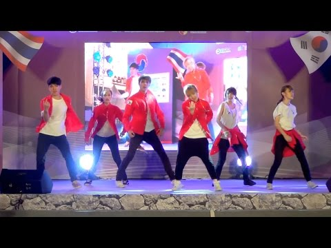 151115 XSU cover KPOP - Intro + Growl(EXO) + Dope(BTS) @Thailand Korea Friendship Festival 2015
