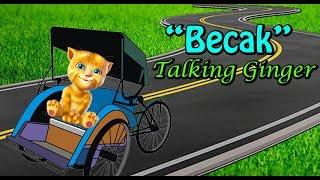 Naik Becak - Talking Ginger2 - Lagu Anak Indonesia