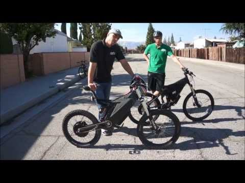 Stealth Bomber VS. HPC XC 2 4500W Electric Bike Comparison and Race