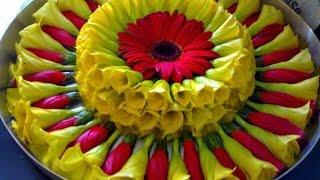 Floating Flower Decoration Rangoli Designs