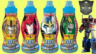 TRANSFORMERS: ROBOTS IN DISGUISE Drink & Play Toy Surprise, Blind Bag, Mini-Con Weaponizer / TUYC
