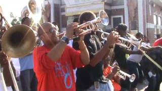 Hot 8 Brass Band playing 'Cause You Love Me Baby' for Women Of Class 2009 Second Line Parade