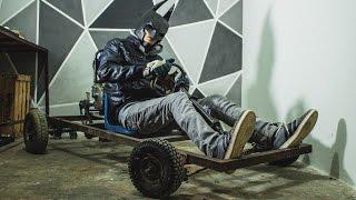 Homemade BATMAN Go Kart - شاهد شاب مغربي يصنع سيارة صغيرة