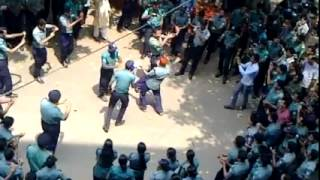 Bangladeshi Police Dancing in Public Place