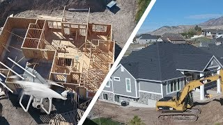 BUILDING A HOUSE! 🏡 (Drone View) - Ellie and Jared