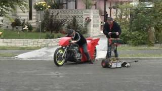 Drag bike on the the streets