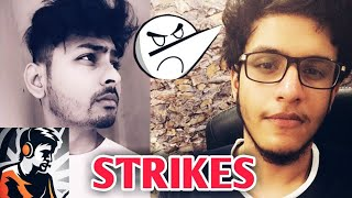 Dynamo Gaming And Triggered Insaan Get STRIKES   Live Insaan, Angry Prash   PUBG Mobile New Update  