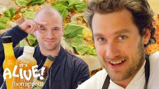 Brad and Sean Evans Make Cast-Iron Pizza | It