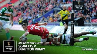 Round 19 Highlights: Scarlets Rugby v Benetton Treviso | 2016/17 season