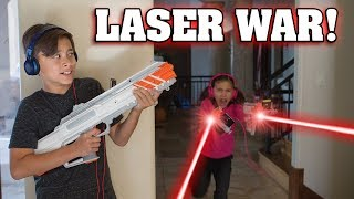RECOIL LASER TAG WAR!!! Video Game Brought to Life!