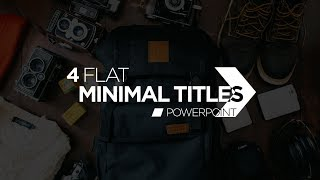 Flat Minimalist Titles in PowerPoint  - Motion Graphics and Kinetic Typography Tutorial