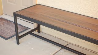 DIY Modern Outdoor Bench/Coffee Table // Metalworking