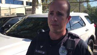 Officer Robert Voegtlin talks about new police SUVs
