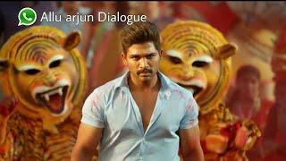 Allu arjun dialogue Whatsapp status | Sarrainodu Whatsapp hindi status video