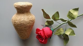 ABC TV | How To Make Vase Flower From Carton Paper - Craft Tutorial #1