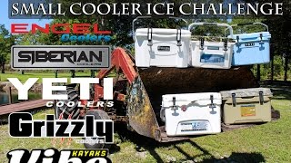 Small Cooler Ice Challenge, 20-25QT, Yeti Roadie vs Grizzly vs Engel 25 vs Siberian 22 vs Element 20
