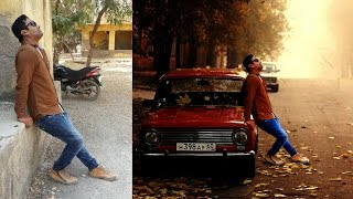 ps touch tutorial | photo with car | beautiful phot editing hindi/urdu
