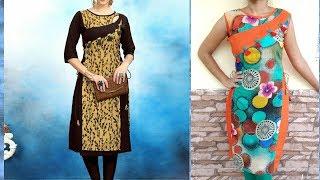 3 panels kurti with stylish neck design making