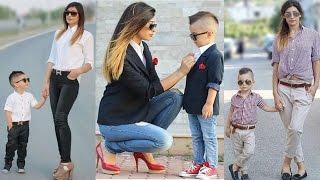 Mom & Son - matching fashion dresses!