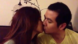 Ciuman Romantis dinda dengan kekasihnya