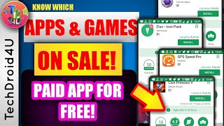 Android paid apps on sale | Paid apps gone free | Download paid apps for free in legal | TechDroid4U