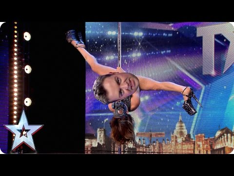 BGMT WARNING this pole dancing clip is a little bit naughty Britain s Got Talent 2015