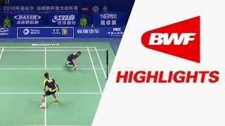 TOTAL BWF Thomas & Uber Cup Finals 2016 | Badminton Day 3/S2-Thomas Cup GrpC-KOR vs MAL-Highlights