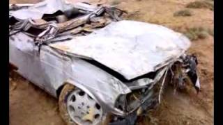 سيارة جاسم عبيد بعد الحادث