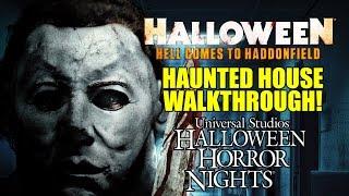 Halloween Movie Haunted House Walkthrough Universal Hollywood Horror Nights 2016