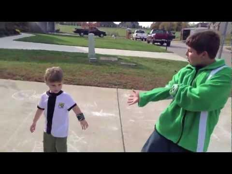 Real Life Ben 10 HeatBlast & SpiderMonkey vs 2 Evil Bad Guys