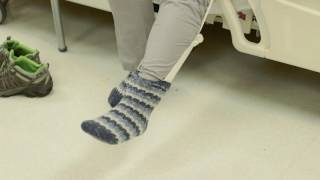 Putting on and taking off socks and stockings after hip replacement