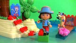 MEGABLOKS Dora's Pirate Adventure from Nickelodeon Dora the Explorer Unboxing by FunToys