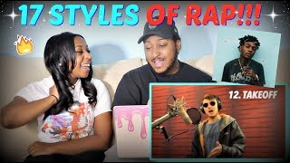 """Quadeca """"17 Styles of Rapping! (Post Malone, Gunna, Sheck Wes, JID)"""" REACTION!!!"""