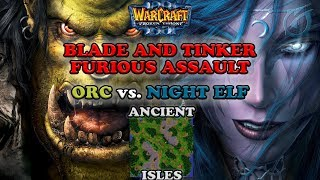 Grubby | Warcraft 3 The Frozen Throne | Orc v NE - Blade and Tinker Furious Assault - Ancient Isles
