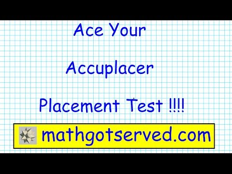 Accuplacer Elementary Algebra Part I