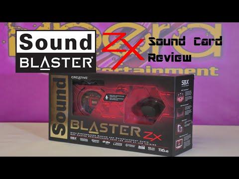 Sound Blaster Zx Desktop Sound Card UNBOXING