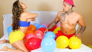 STRIP BALLOON CHALLENGE PRANK!!