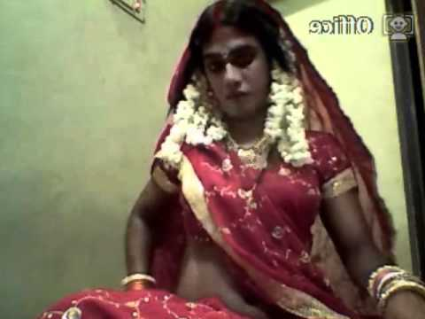 indian cross dresser bride in red sares....preparation for marrige,,,,,,