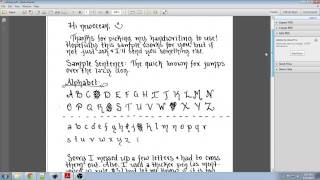 Turn your handwriting into a font!