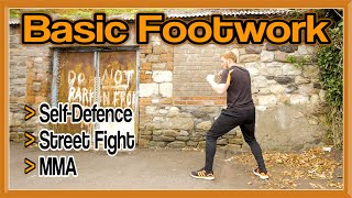 Basic Footwork for Self Defence, Street Fight, MMA, etc | GNT
