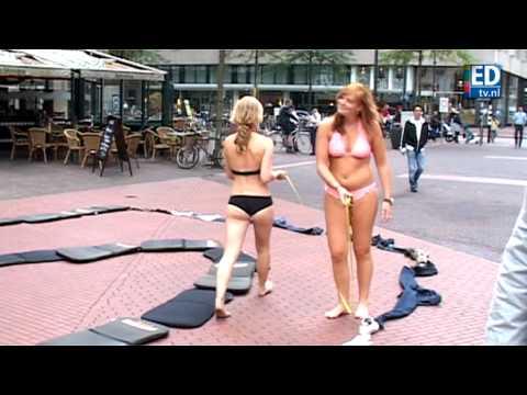 Striptease op straat