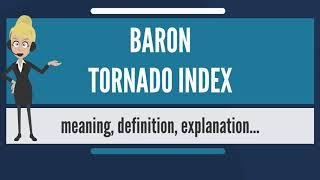 What is BARON TORNADO INDEX? What does BARON TORNADO INDEX mean? BARON TORNADO INDEX meaning