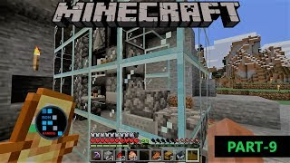 [Hindi] MINECRAFT GAMEPLAY | MAKING AUTOMATIC CHICKEN COOKER WITH GLASS BLOCKS#9