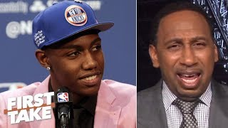 Stephen A. Isn't Sold On RJ Barrett Being The Face Of The Knicks ... Yet | First Take